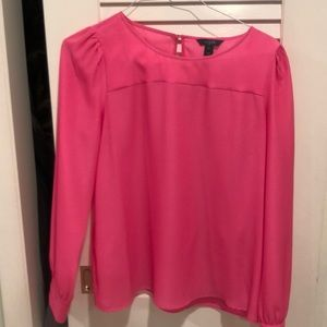NWOT HOT PINK BLOUSE BY J CREW